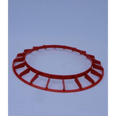 AGROFORTEL Tubusové krmítko pozinkované - 18 kg - kruh proti znečištění