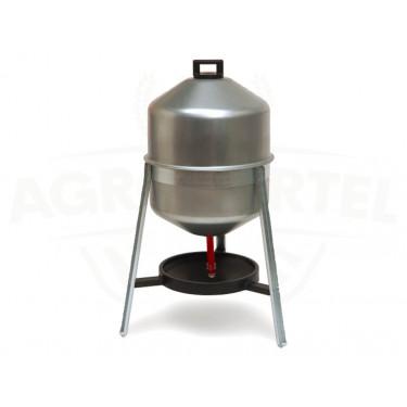 AGROFORTEL Celokovová sifonová napáječka pro drůbež - objem 30 litrů