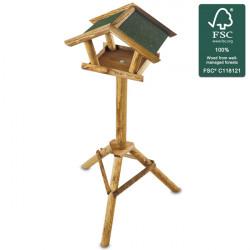 Dřevěné ptačí krmítko Ptačí domek