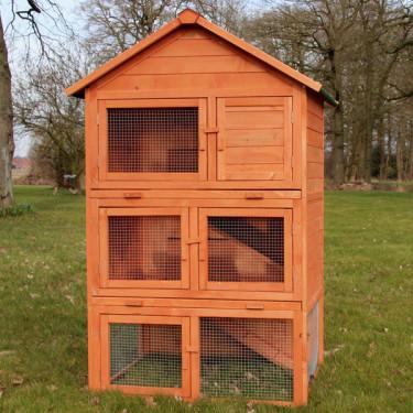 Dřevěná králíkárna SOKOLOV, 1060x865x1600 mm