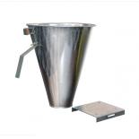 Vykrvovací trychtýř - velikost L, pozink