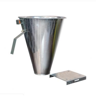 Vykrvovací trychtýř - velikost L, nerez