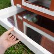 Dřevěný kurník a husník s výběhen nebo bez výběhu GRAZ, 1710x900x1130 mm
