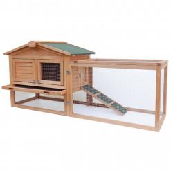 Dřevěná králíkárna ADANA, 1560x520x680 mm