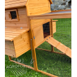 Dřevěný MOBILNÍ maxi kurník PAŘÍŽ MOBIL na kolečkách, 3100x1500x1500 mm