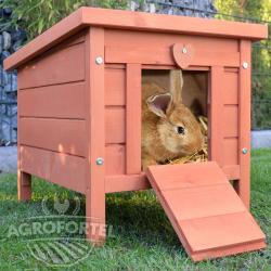 Dřevěná mini králíkárna BRNO, 515x420x430 mm