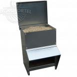 Kovové násypné krmítko AGROFORTEL - 8 kg, šetří krmivo, kvalitní provedení