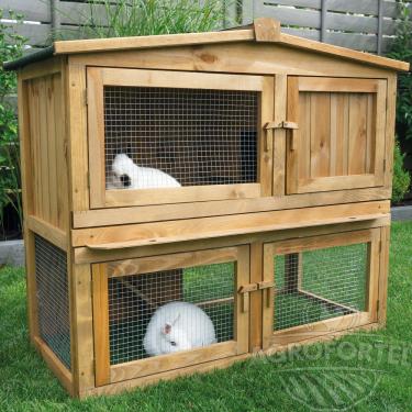 Dřevěná králíkárna VIMPERK, 1060x530x910 mm