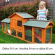 Dřevěná králíkárna JINCE, 2100x540x855 mm
