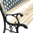 Zahradní lavička Alfa - kovová se dřevem, 122 x 54 x 73 cm