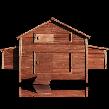 Dřevěný kurník a husník MOSKVA, 1880x1130x870 mm