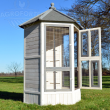 Luxusní Voliéra pro ptáky - Břeclav - masivní dřevo, 100 x 100 x 183 cm