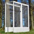 Přístavek k Luxusní Voliéře pro ptáky - Břeclav - masivní dřevo, 136 x 52 x 114 cm