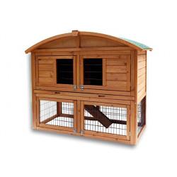 Dřevěná králíkárna ALABAMA, 1200x560x980 mm