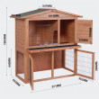 Dřevěná králíkárna HONGKONG, 870x450x1000 mm