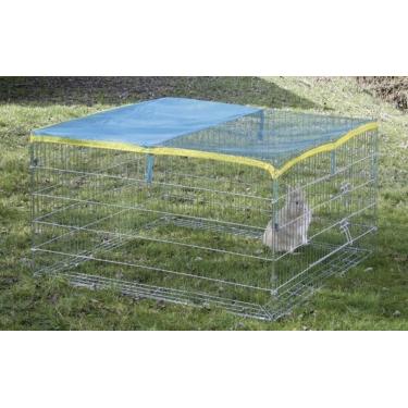 Výběh pro králíky, morčata a jiné hlodavce 115 x 115 x 65 cm s plachtou