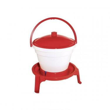 Napájecí kbelík pro drůbež, s podstavcem, 12 l