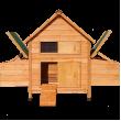 Dřevěný kurník a husník BUDAPEŠŤ, 1540x550x1170 MM