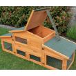 Dřevěná králíkárna PRACHATICE, 1800x620x720 mm