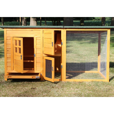 Dřevěný kurník TEMELÍN MAXI, 2150x650x800 mm