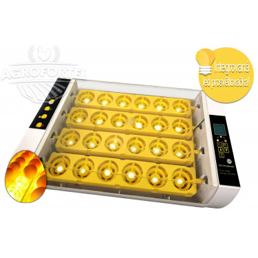 Automatická digitální líheň YZ24S s dolíhní a vlhkoměrem a integrovanou prosvětlovačkou vajec.