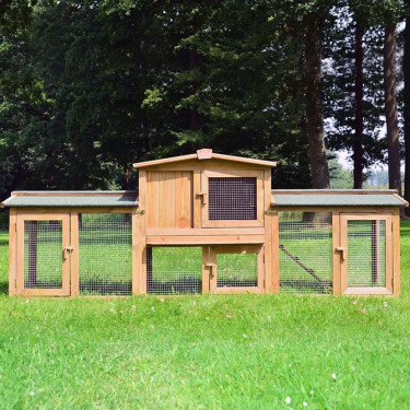 Dřevěná králíkárna ZNOJMO MAXI, 2200x560x830 mm