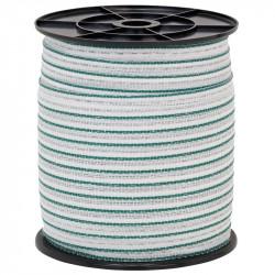 Páska pro elektrický ohradník, průměr 20 mm, zeleno-bílá