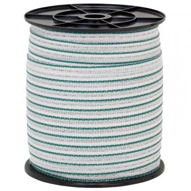 Páska pro elektrický ohradník, průměr 20 mm, 200 m, zeleno-bílá