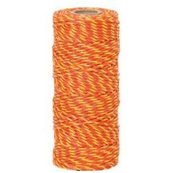 Lanko pro elektrický ohradník, průměr 2,5 mm, žluto-oranžové