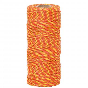 Lanko pro elektrický ohradník, průměr 2,5 mm, 100 m, žluto-oranžové