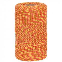Lanko pro elektrický ohradník, průměr 2 mm, žluto-oranžové
