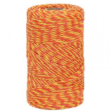 Lanko pro elektrický ohradník, průměr 2 mm, 250 m, žluto-oranžové