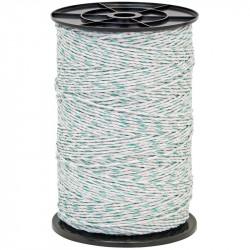Lanko pro elektrický ohradník, průměr 3 mm, zeleno-bílé