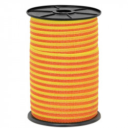 Páska pro elektrický ohradník, průměr 10 mm, žluto-oranžové