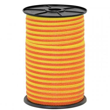 Páska pro elektrický ohradník, průměr 10 mm, 250 m, žluto-oranžové